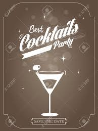 poster for a cocktail party vector illustration royalty free