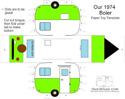boler trailer paper toy template color family outdoor adventures