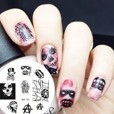 aliexpress com buy cool skull eye nail art stamping template