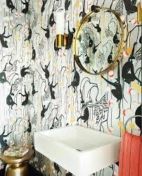 Wallpapered Bathrooms Ideas 105 Best Bathroom Wallpaper Images On Pinterest Bathroom Ideas
