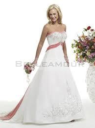 robe de mari e bicolore robe de mariée luxe a ligne satin longue bustier
