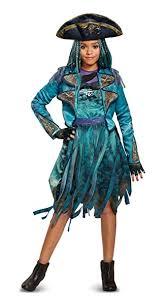 Amazon Halloween Costumes Amazon Disney Uma Deluxe Descendants 2 Costume Teal Medium