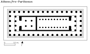 floor plan of the parthenon plan of the parthenon art history pinterest art history and
