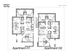 Apartment Building Blueprints by Village Apartments Washington And Lee University