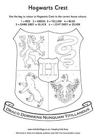 hogwarts crest colour number