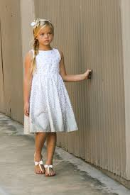 girls ombre faded silver dress with pearlized silver polka dots