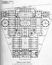 archi maps ground floor plan of the adelphi hotel liverpool