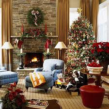 Christmas Decoration For Home Cheerful Christmas Decoration For Living Room Home Decorating Ideas