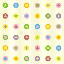 figuras geometricas todas figuras geométricas colores planos del modelo inconsútil ilustración