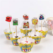 sesame cake toppers 24pcs lot new sesame cupcake wrappers 12 wrappers 12