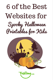 6 of the best websites for spooky halloween printables for kids
