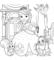 free printable princess sofia mermaid coloring pages with bird