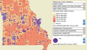 missouri map by population missouri health literacy mapping tool rand