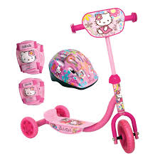 kitty children u0027s tricycle helmet ellbow knee