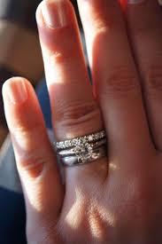 eternity ring finger anyone a moissanite eternity band weddingbee