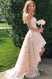 wedding dresses high high low strapless homecoming prom dress wedding