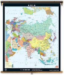 Physical Map Of Asia by Klett Perthes Asia Dual Sided Political And Physical Classroom Map