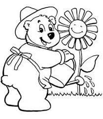 carrying flowers to the flower garden coloring pages for kids