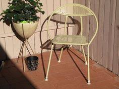 Folding Patio Chair by Vintage Mid Century Modern Salterini Folding Round Hoop Patio