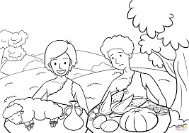 cain and abel the way of sacrifice coloring page free printable