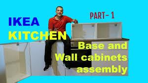 ikea kitchen base cabinet assembly ikea kitchen part 1 metod base and wall cabinets assembly