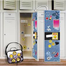 wall clings decals birthdayexpress com denim locker decal emoji patches