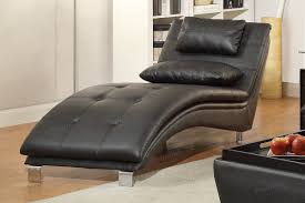Leather Chaise Lounge Sofa Duvis Black Leather Chaise Lounge A Sofa Furniture Outlet
