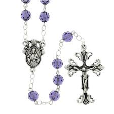 purple rosary purple tanzanite swarovski rosary sterling silver the