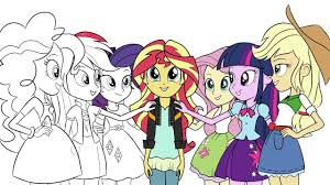 my little pony coloring book equestria girls friendship games