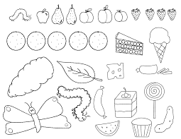 hungry caterpillar coloring pages funycoloring