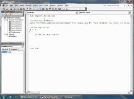 excel vba how to import data from a text file youtube