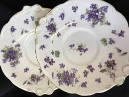 serving plate violets serving plate