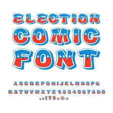 election comic font political debate in america alphabet usa