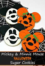 minnie mouse halloween sugar cookies