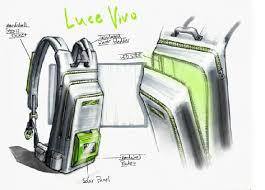 bag with light inside luce vivo backpack uses solar to light interior earthtechling