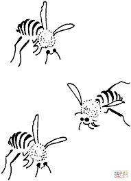 3 bees coloring page free printable coloring pages