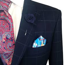 lapel flower blue knit microfiber lapel flower pin the accessorized