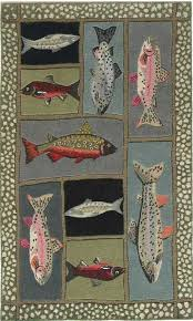 Fish Area Rug 49 Best Hooked Fish Rugs Images On Pinterest Wool Area Rugs