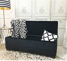 hedonist black velvet upholstered ottoman bench ottomans