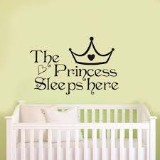 online get cheap wallpaper wall stickers aliexpress com alibaba dctop the princess sleeps here black vinyl wall sticker home decoration bedroom wallpaper wall art decor