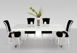 Modern Table Ls White Lacquer Modern White Dining Table