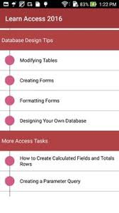 microsoft access for android learn microsoft access 2016 apk free business app for