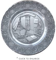 birth plates artina pewter baby birth plate 9 in pewter plates