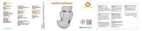 si e auto rodi air protect notice bebeconfort rodifix air protect siège auto trouver une