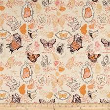 michael miller strawberry moon butterfly sketchbook orange