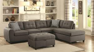 Gray Fabric Sectional Sofa Stonenesse Grey Fabric Sectional Sofa Steal A Furniture Abson