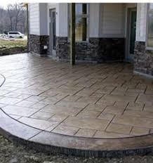 Textured Concrete Patio by Ok We Are Totally Doing Stamped Concrete When We Replace The