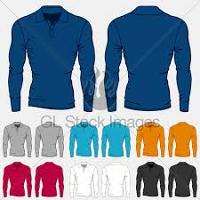 set of colored long sleeve polo shirts templates for men gl