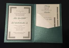 celtic wedding invitations green celtic wedding invitation a7 pocket folded 2668565