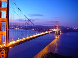 golden gate bridge elevated famous wallpaper